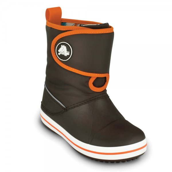 Crocs Crocband ll.5 Gust Boot kids espresso/orange gyerek csizma