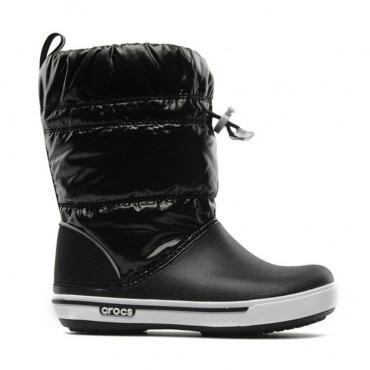 Crocs Crocband Iridescent Gust Boot Kids /blk-wht
